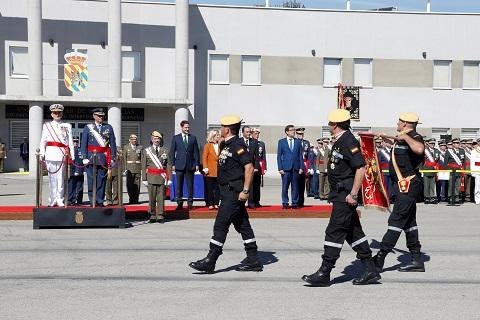 La ceremonia, presidida por el Secretario General de Política de Defensa, almirante Juan Francisco Martínez Núñez, consistió en una parada militar que terminó con un desfile de las unidades participantes